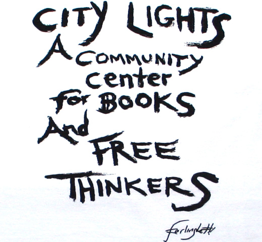 [City Lights Bookstore] Lawrence Ferlinghetti / FREE THINKERS Tee (White)