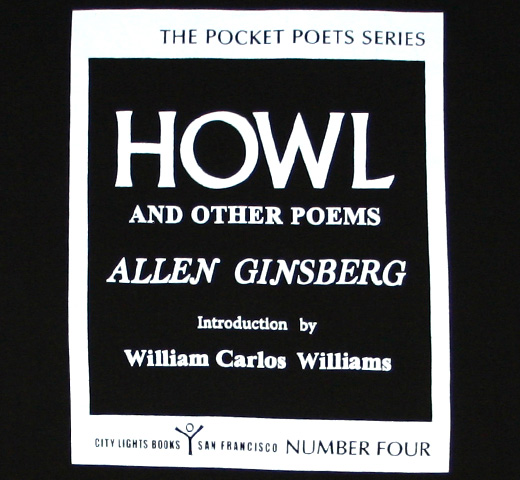 【City Lights Bookstore】 Allen Ginsberg / Howl and Other Poems Tee (Black)