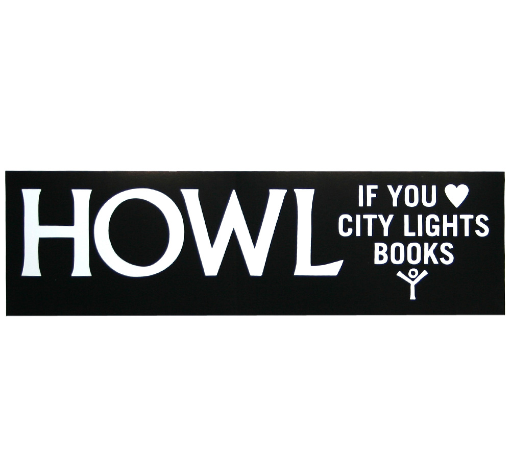 【City Lights Bookstore】 HOWL Bumper Sticker