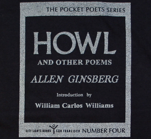 【City Lights Bookstore】 Allen Ginsberg / Howl and Other Poems Tee (Dyed Black)