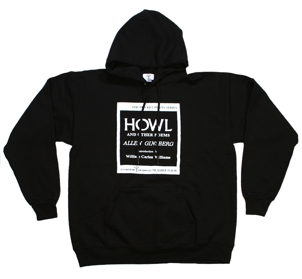 【City Lights Bookstore】 Allen Ginsberg / Howl and Other Poems Hoodie (Black)