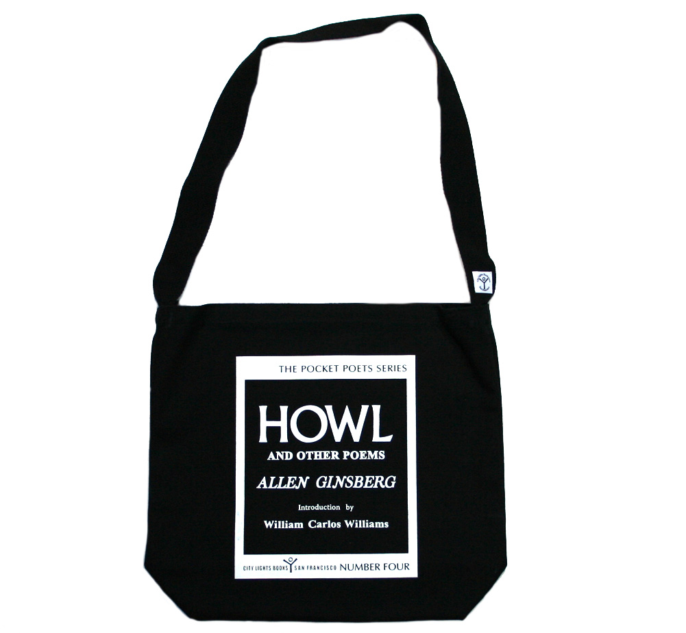 【City Lights Bookstore】 Allen Ginsberg / Howl and Other Poems Shoulder Bag (Black)