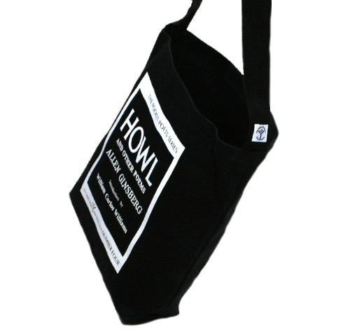 [City Lights Bookstore] Allen Ginsberg / Howl and Other Poems Shoulder Bag (Black)
