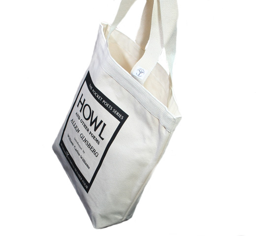 [City Lights Bookstore] Allen Ginsberg / Howl and Other Poems Tote Bag (Natural)