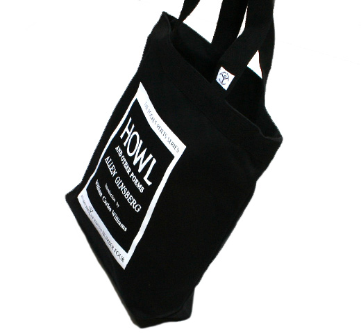 【City Lights Bookstore】 Allen Ginsberg / Howl and Other Poems Tote Bag (Black)