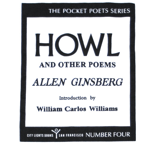 【City Lights Bookstore】 Allen Ginsberg / Howl and Other Poems Tee (White)