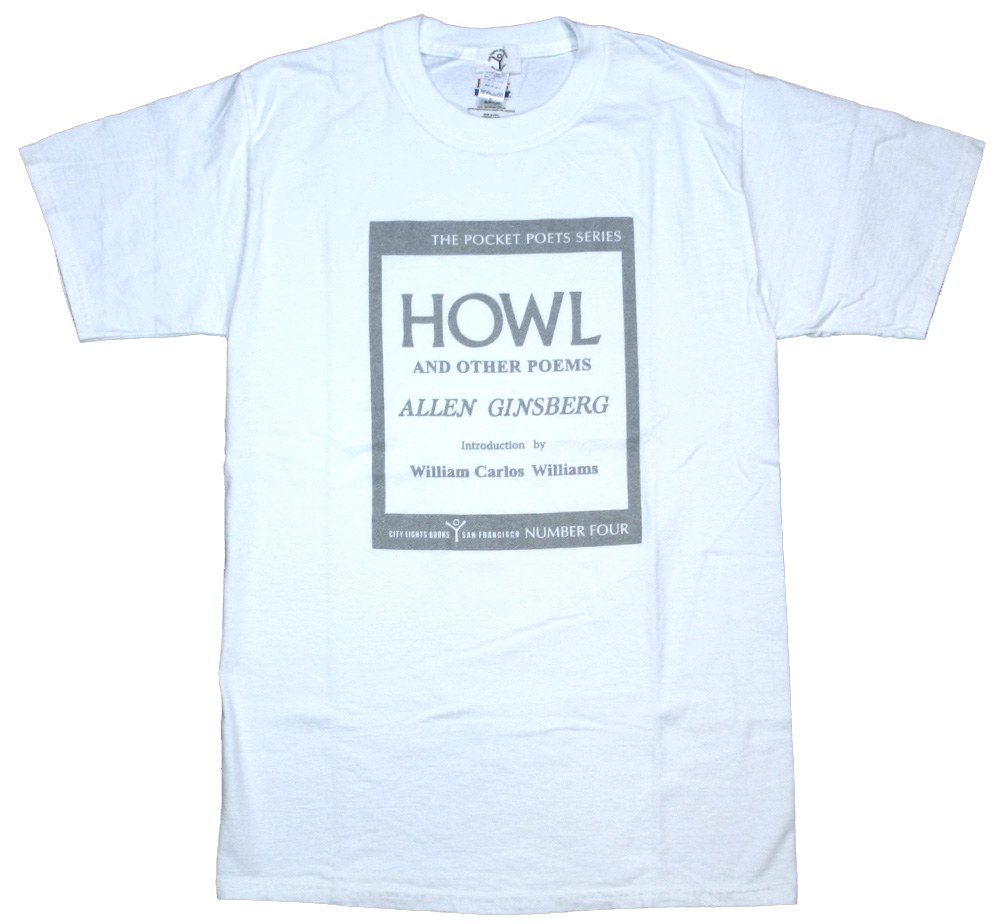 [City Lights Bookstore] Allen Ginsberg / Howl and Other Poems Tee (White/Silver)