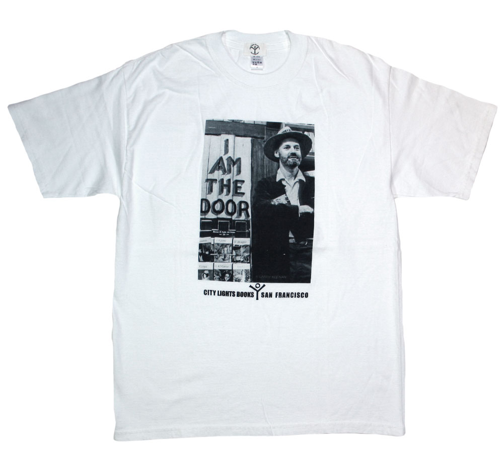 [City Lights Bookstore] Lawrence Ferlinghetti / I AM THE DOOR Tee (White)