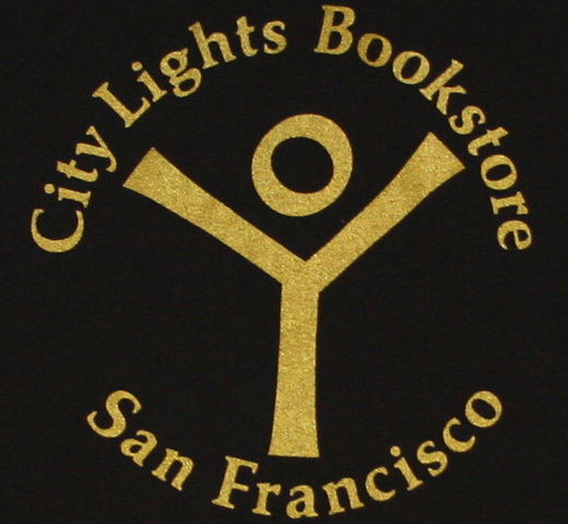 【City Lights Bookstore】 Logo Tee (Black/Gold)