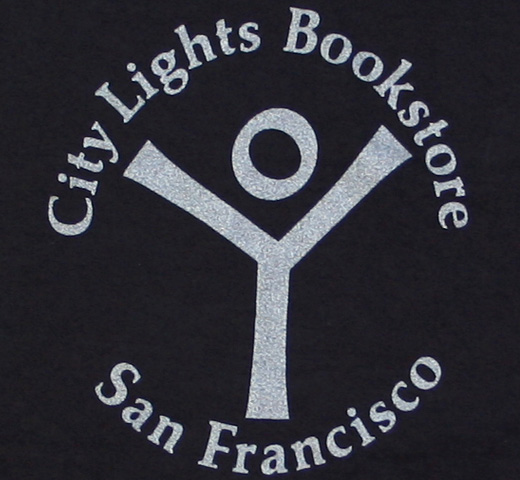 [City Lights Bookstore] Logo Tee (Dyed Black / Silver)