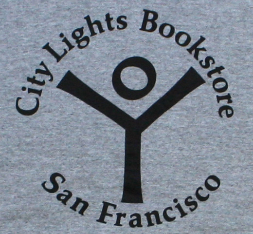 【City Lights Bookstore】 Logo Hoodie (Heather Grey)