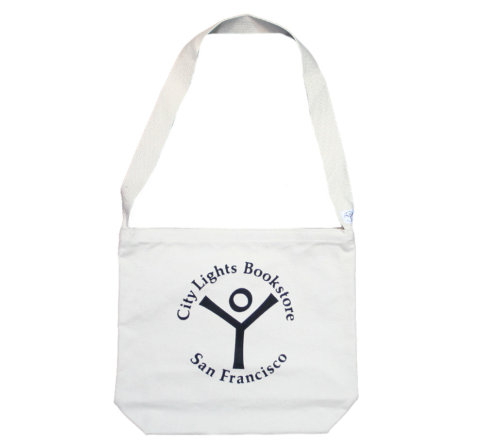 【City Lights Bookstore】 Logo Shoulder Bag (Natural)