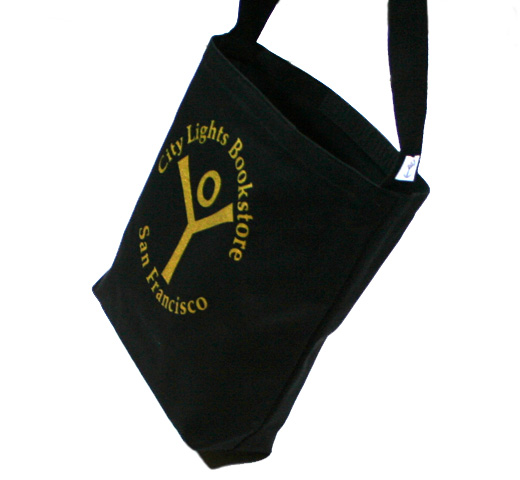 [City Lights Bookstore] Logo Shoulder Bag (Black/Gold)