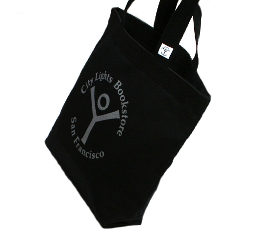 [City Lights Bookstore] Logo Tote Bag (Black)