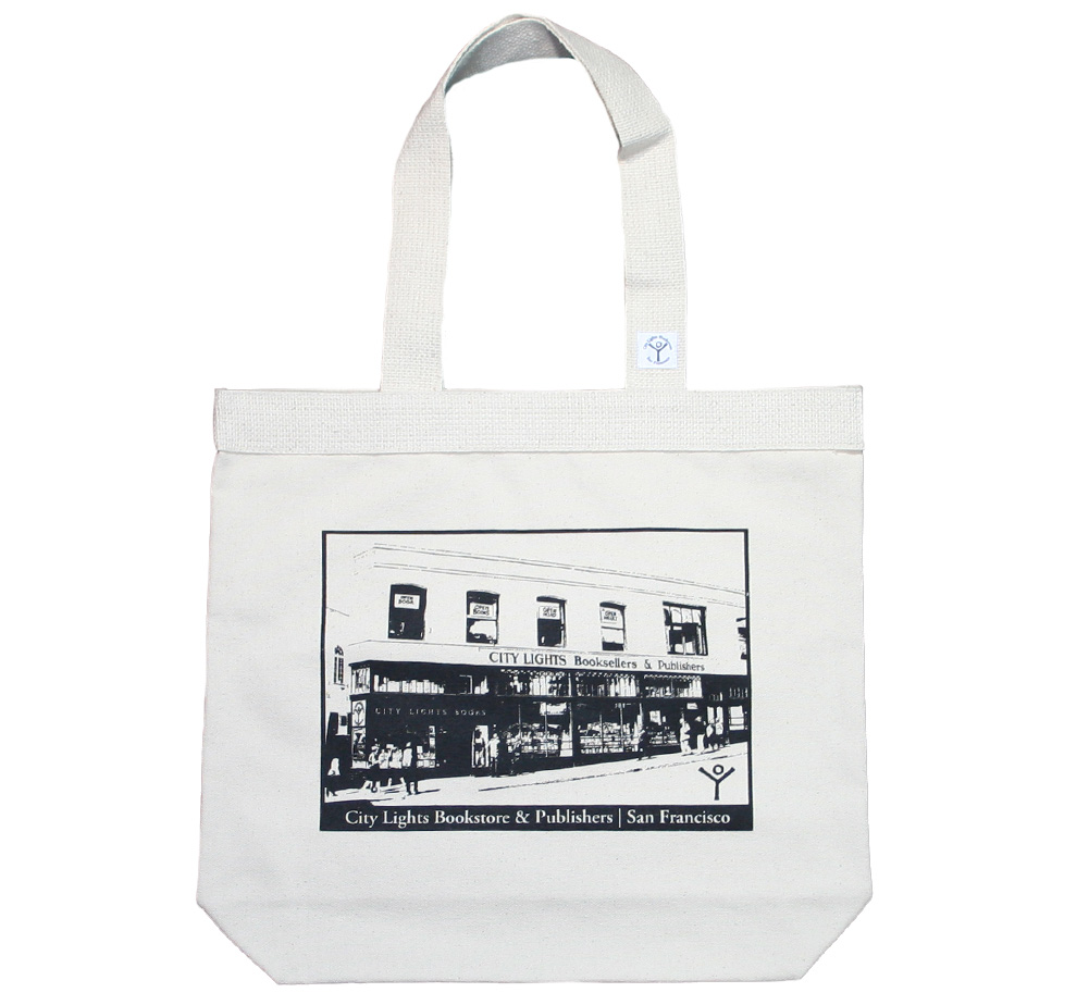 【City Lights Bookstore】 Storefront Photo Tote Bag (Natural)