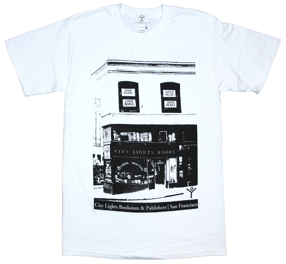【City Lights Bookstore】 Storefront Photo Tee (White)