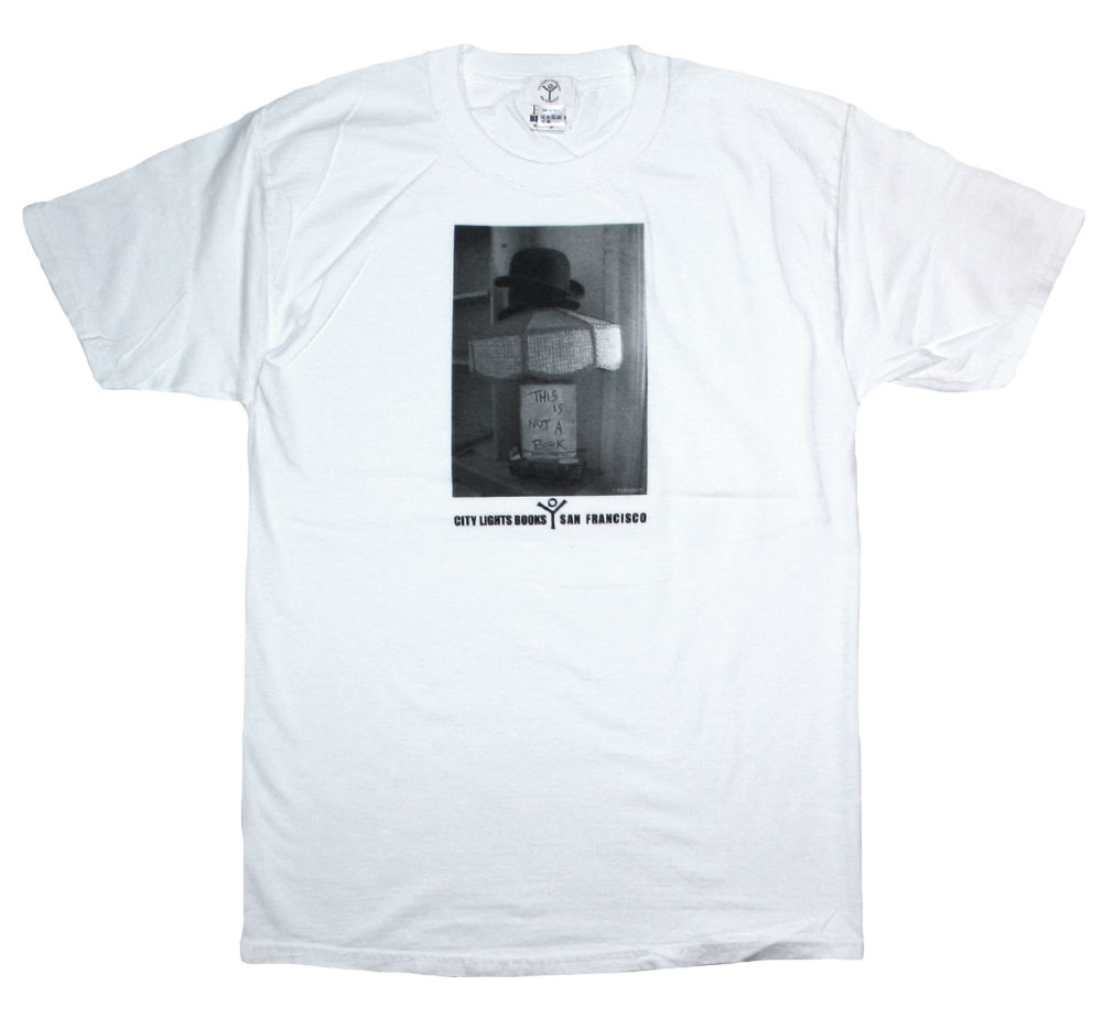 [City Lights Bookstore] Lawrence Ferlinghetti / THIS IS NOT A BOOK Tee (White)