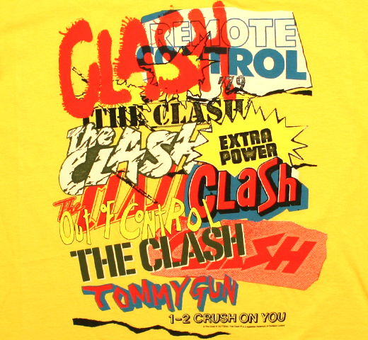 The Clash / Singles Collage Tee (Yellow)