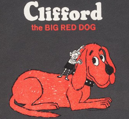 【Out of Print】 Norman Bridwell / Clifford the Big Red Dog Tee (Heavy Metal Grey)