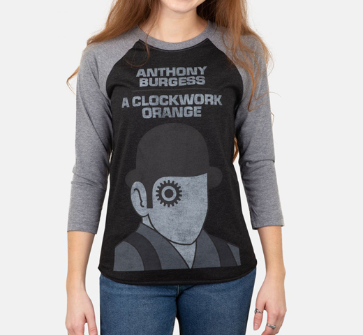 [Out of Print] Anthony Burgess / A Clockwork Orange Raglan Tee (Black/Heather Grey)