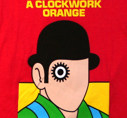 【Out of Print】 Anthony Burgess / A Clockwork Orange Tee 1 (Red) (Womens)