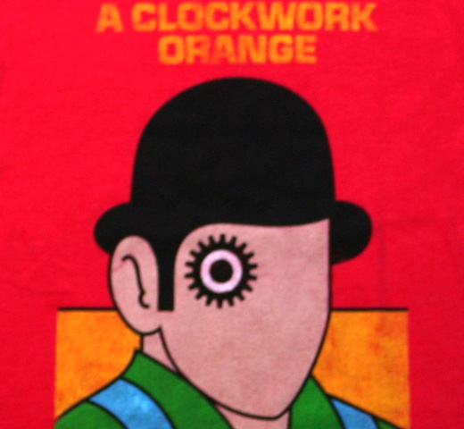 【Out of Print】 Anthony Burgess / A Clockwork Orange Tee 2 (Red) (Womens)