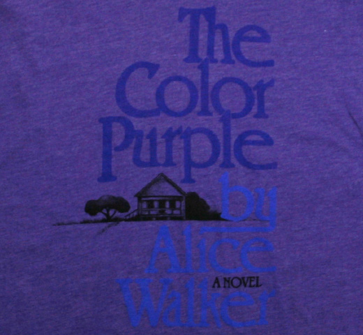 【Out of Print】 Alice Walker / The Color Purple V-Neck Tee (Purple) (Womens)