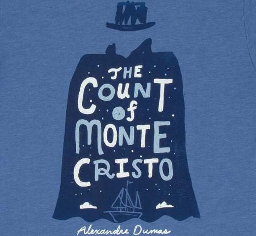 [Out of Print] Alexandre Dumas / The Count of Monte Cristo Tee (Vintage Royal Blue)