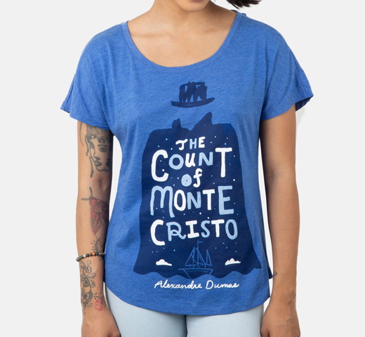 [Out of Print] Alexandre Dumas / The Count of Monte Cristo Relaxed Fit Tee (Vintage Royal Blue) (Womens)