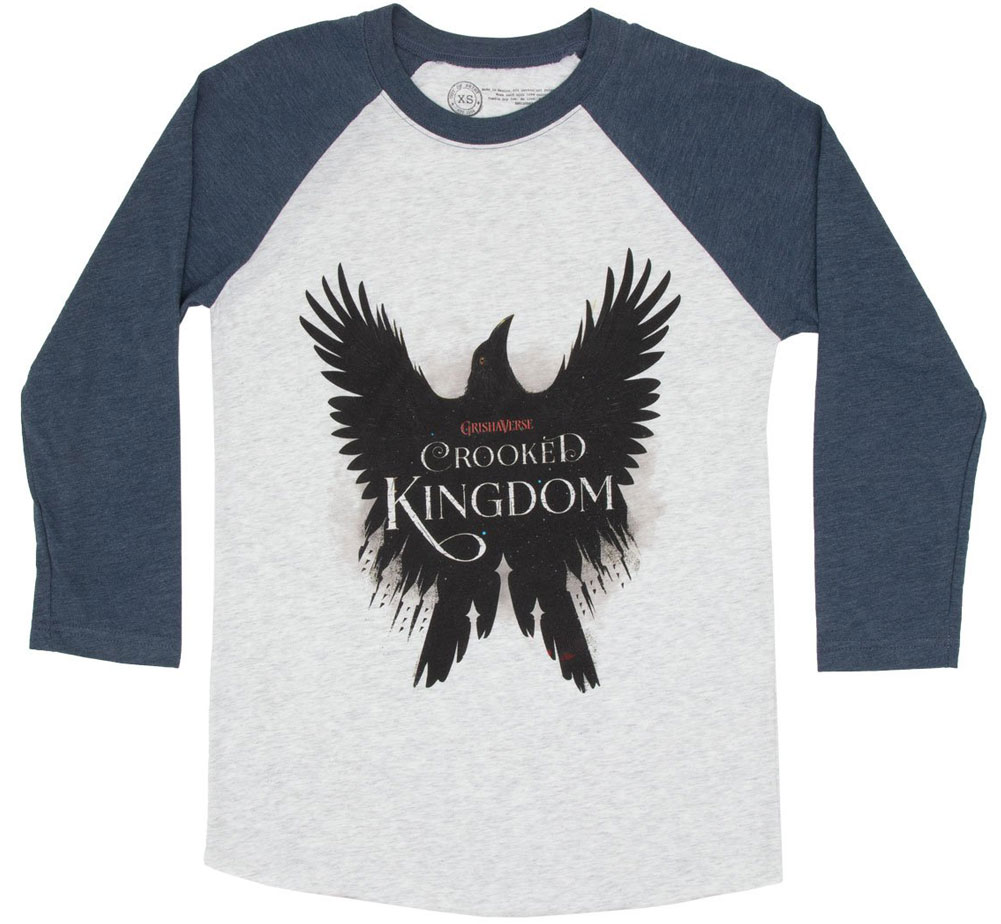 [Out of Print] Leigh Bardugo / Crooked Kingdom Raglan Tee (Heather White/Indigo)