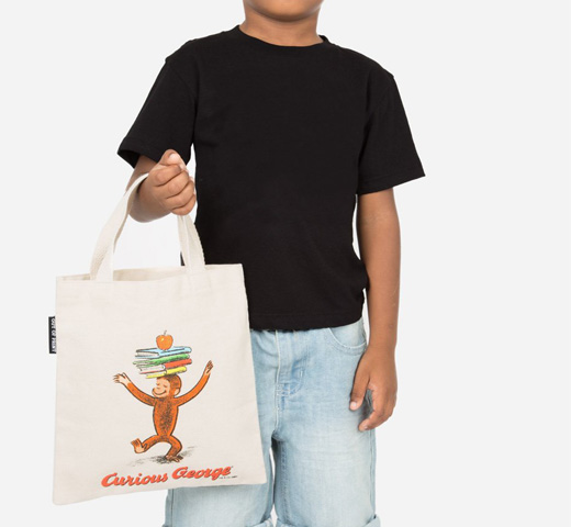 [Out of Print] H. A. Rey and Margret Rey / Curious George Kids Tote Bag