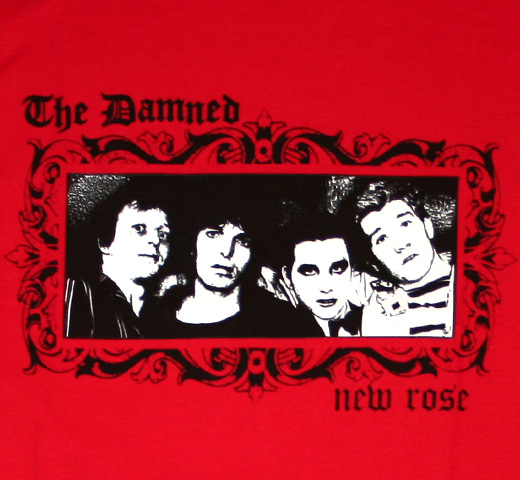 The Damned / New Rose Tee (Red)