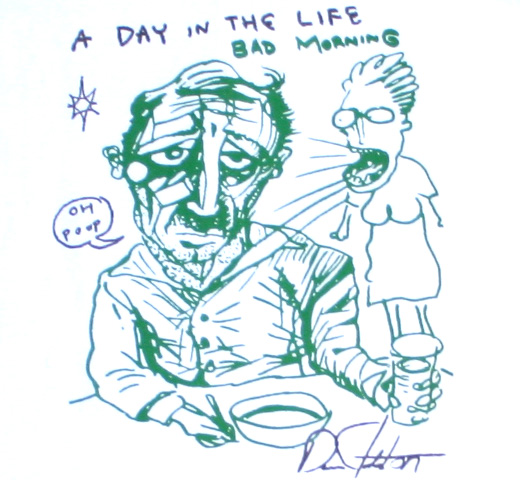 Daniel Johnston / A Day in the Life Tee (White)