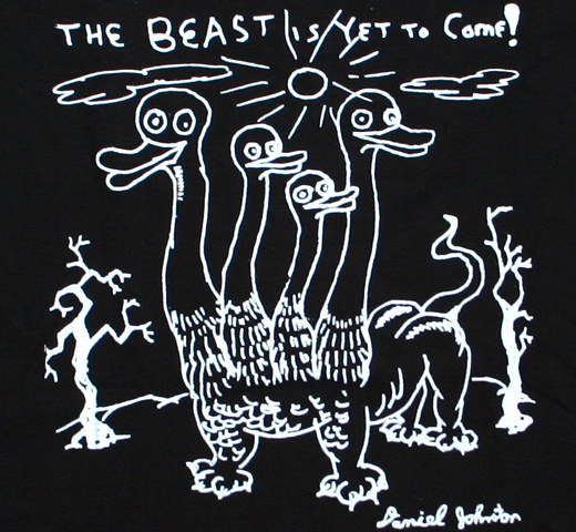 Daniel Johnston / The Beast Is Yet To Come! Tee (Black)