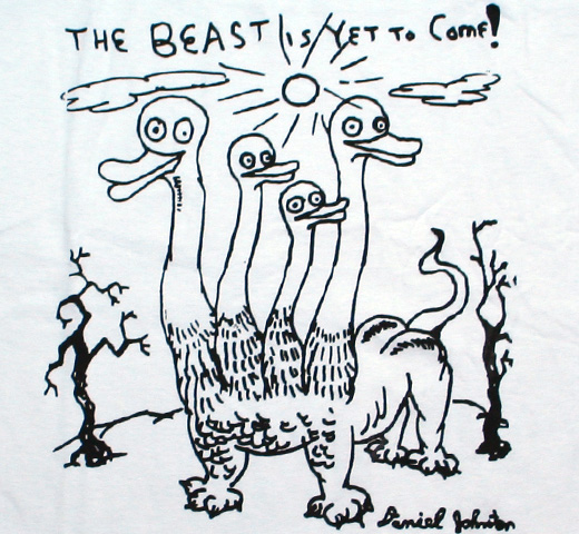 Daniel Johnston / The Beast Is Yet To Come! Tee (White)