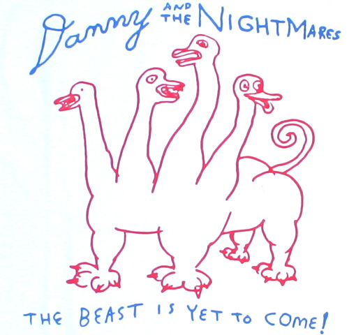 Daniel Johnston / Danny and the Nightmares Tee (White)