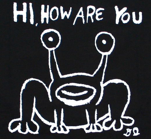 Daniel Johnston / Hi, How Are You Tee 2 (Black)