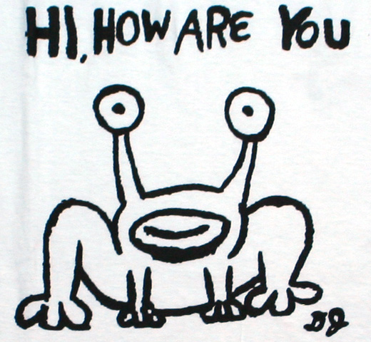 Daniel Johnston / Hi, How Are You Tee 2 (White)