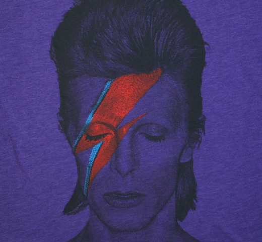 David Bowie / Aladdin Sane Tee (Heather Purple) (Womens)