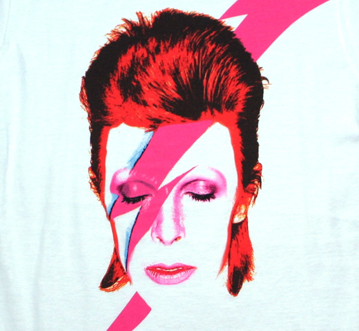 David Bowie / Aladdin Sane Tee (White) (Womens)
