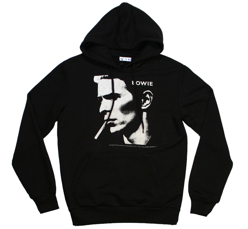 【Worn By】 David Bowie / Portrait Pullover Hood (Black)