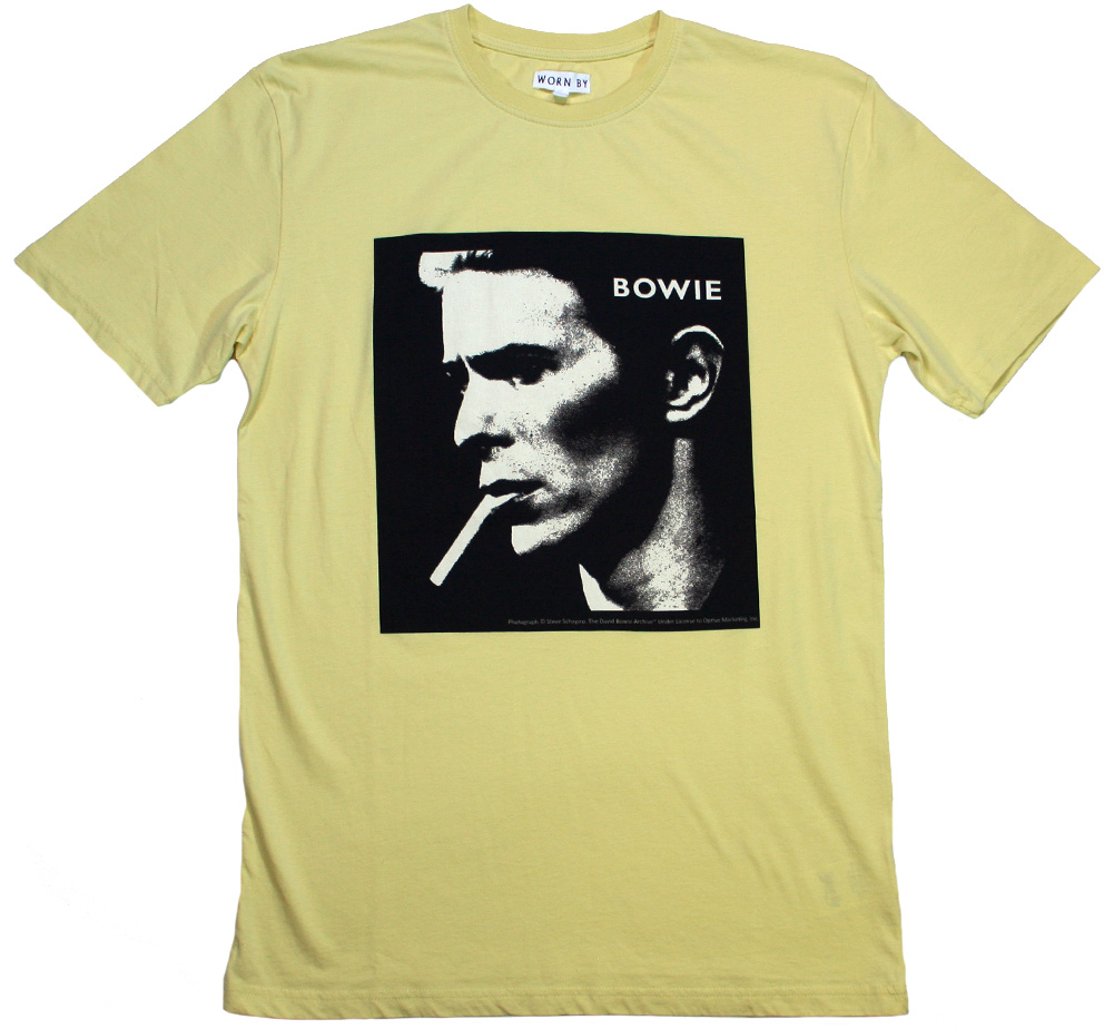 【Worn By】 David Bowie / Portrait Tee (Yellow Overdye)