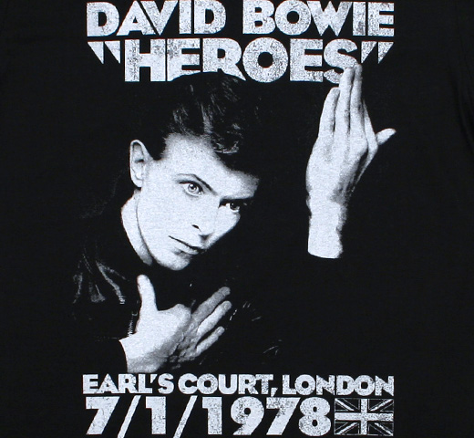 David Bowie / Heroes Earl's Court, London Tee (Black)