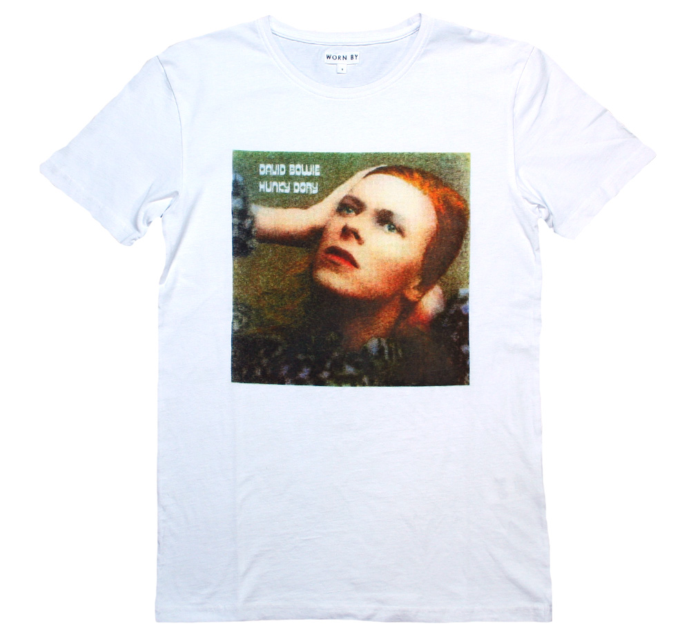 【Worn By】 David Bowie / Hunky Dory Tee (White)