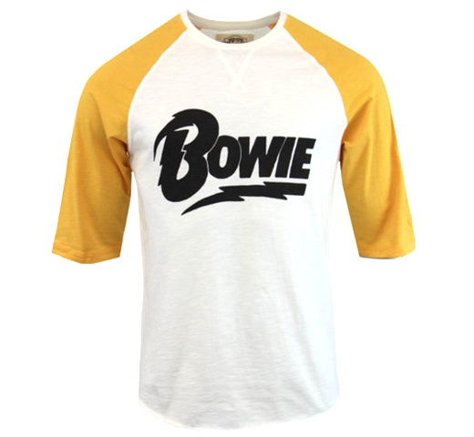 【Worn By】 David Bowie / Lightning Logo Raglan Tee (White / Yellow)