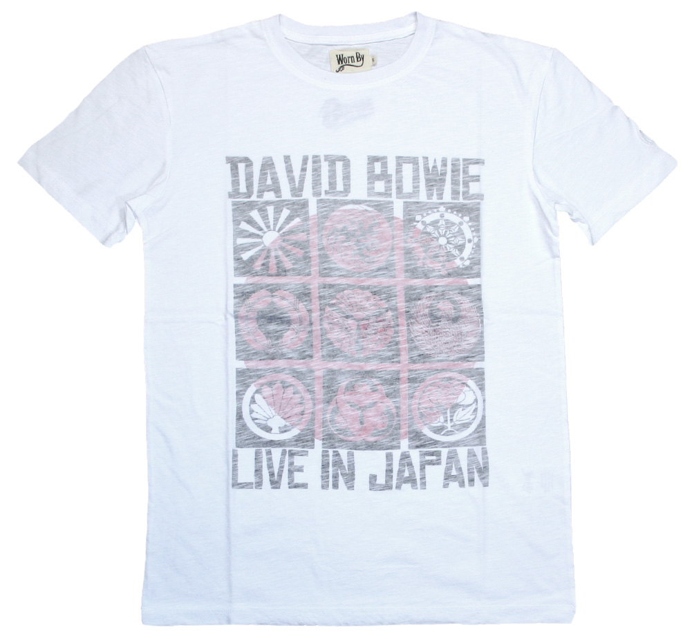 【Worn By】 David Bowie / LIVE IN JAPAN Tee (White)