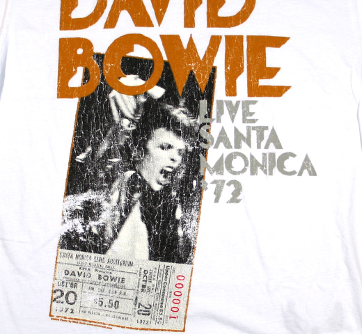【Amplified】 David Bowie / Santa Monica 72 Tee (White)