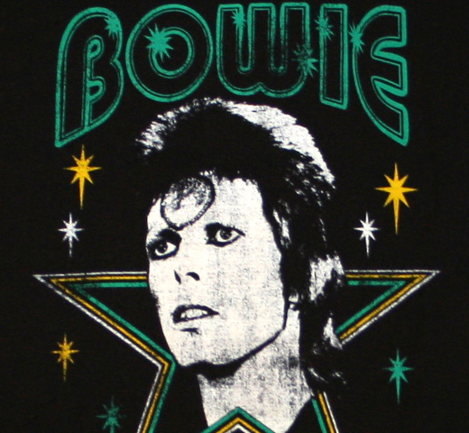 David Bowie / Ziggy Stardust Sun Makeup Tee (Black)