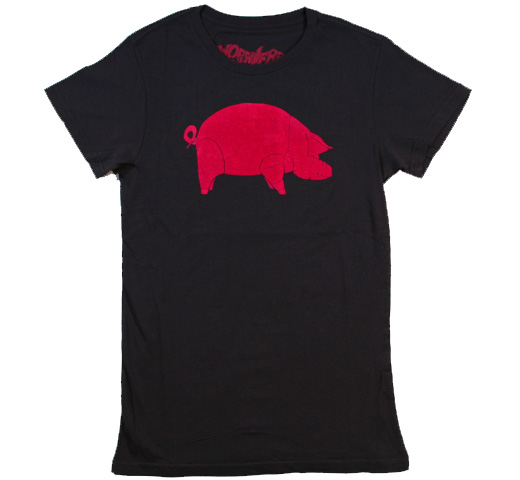 【Worn Free】 David Gilmour / Pink Floyd Animals Tee (Black)