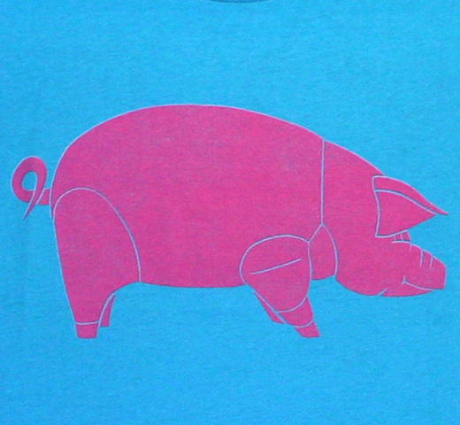 【Worn Free】 David Gilmour / Pink Floyd Animals Tee (Ocean)